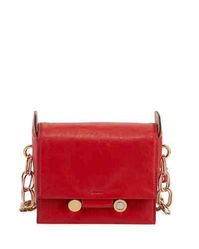 Flap Leather Crossbody Bag