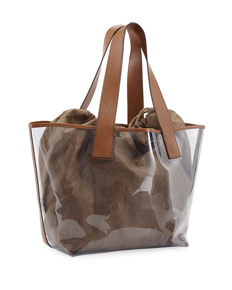 PVC Large Shopper Tote Bag