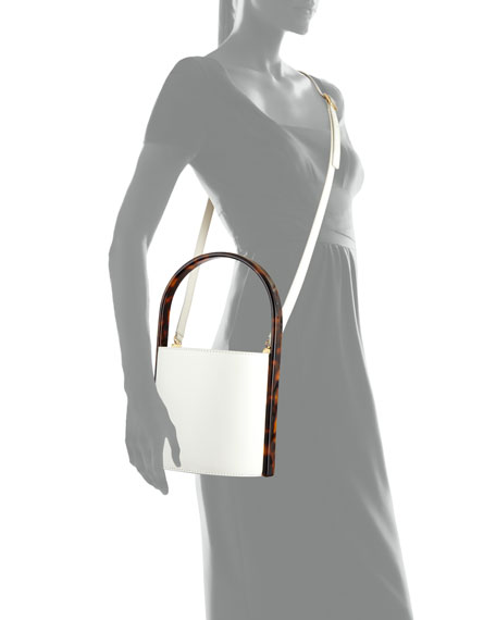Bissett Smooth Bucket Bag with Tortoise Handles