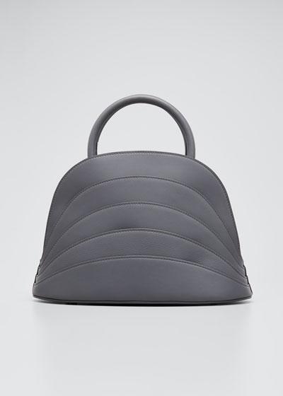 Millefoglie J Layered Top Handle Bag  Gray