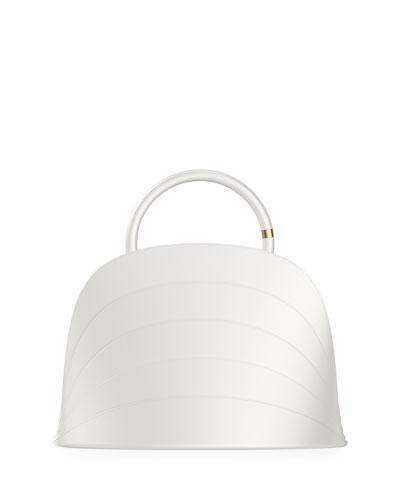Millefoglie J Layered Top Handle Bag  White