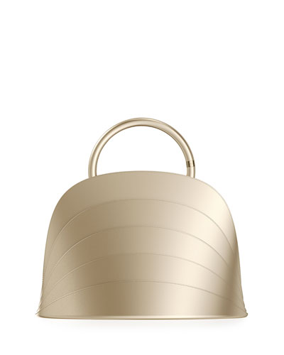 Millefoglie J Layered Top Handle Bag  Gold