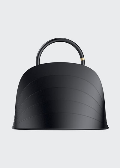 Millefoglie J Layered Top Handle Bag  Black