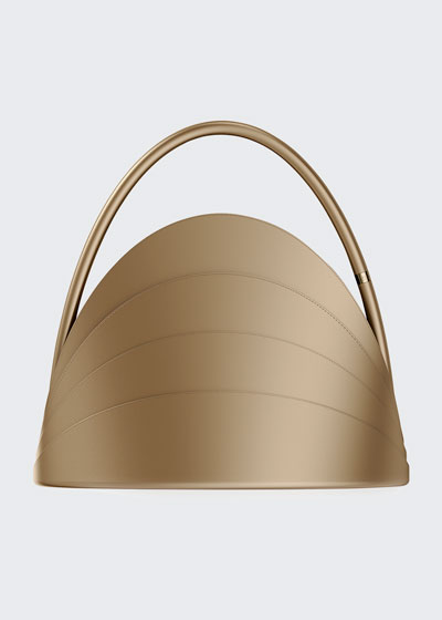 Millefoglie Layered Top-Handle Bag  Brown