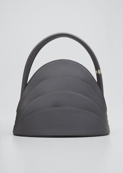 Millefoglie Layered Top-Handle Bag  Gray