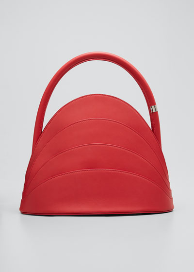 Millefoglie Layered Top-Handle Bag, Red