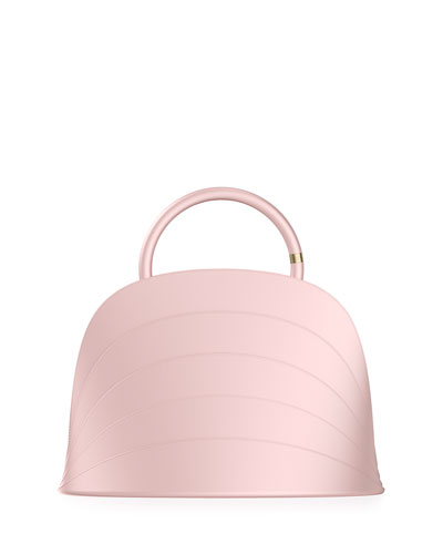 Millefoglie J Layered Top Handle Bag  Pink