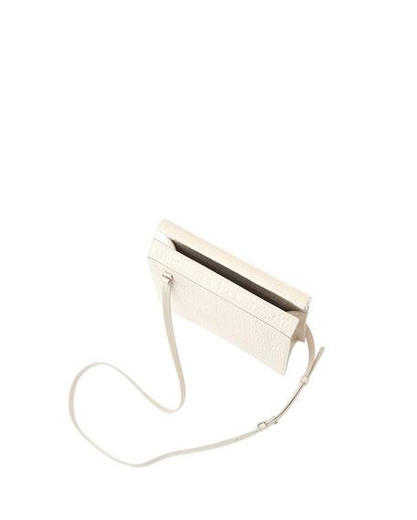 Edie Stamped Crocodile Shoulder Bag