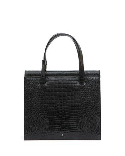 Trip Stamped Crocodile Shoulder Bag