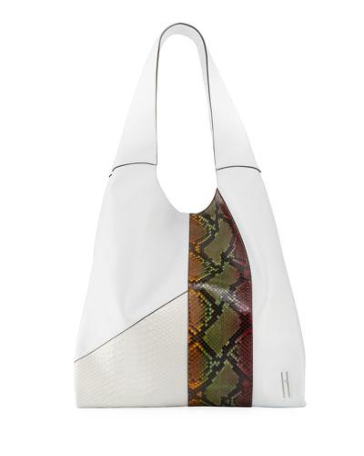 Grand Shopper Python Tote Bag