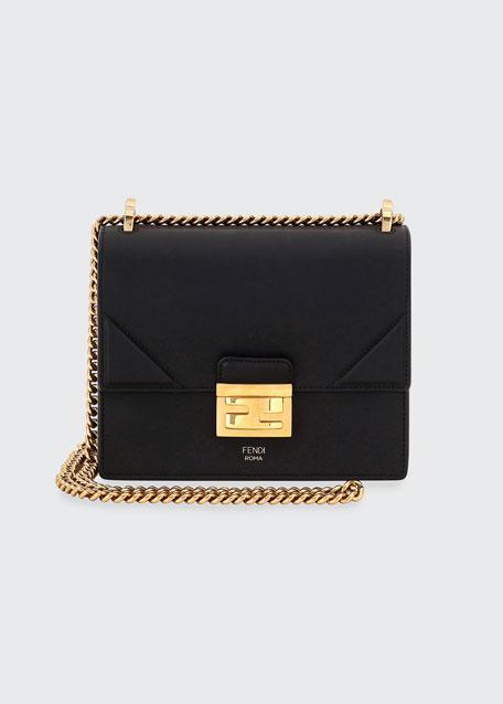 Kan Old Shiny Leather Crossbody Bag
