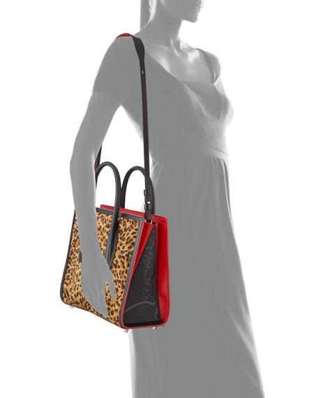 Paloma Leopard Suede & Canvas Tote Bag