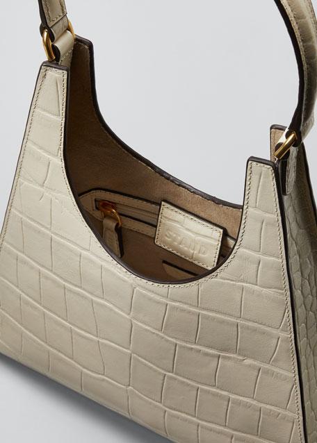 Rey Croc-Embossed Hobo Bag