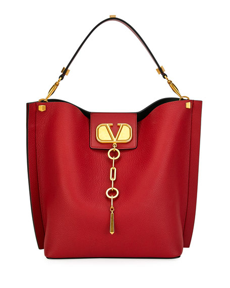 Image 1 of 1: VLOGO Escape Small Leather Hobo Bag