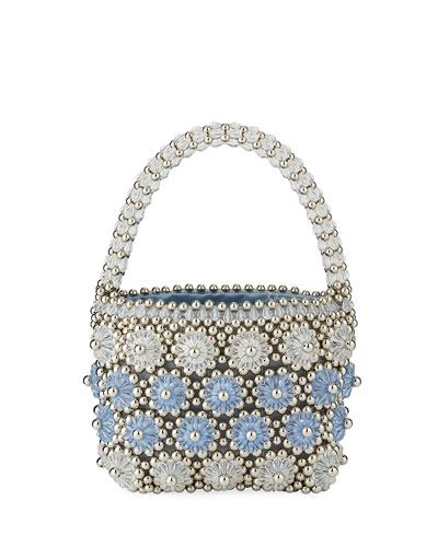 Beaded Shelly Top Handle Bag