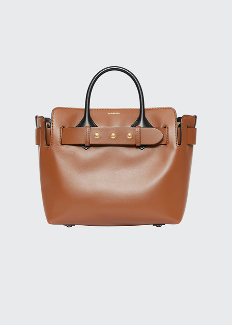 Small Belt Two Tone Tote Bag by Burberry