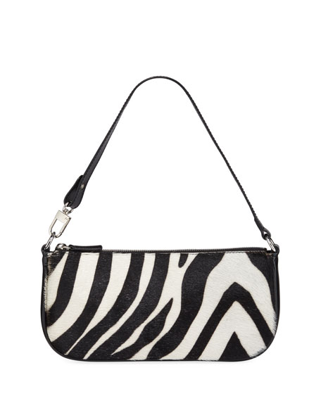 Image 1 of 1: Rachel Zebra Calf Hair Shoulder Bag