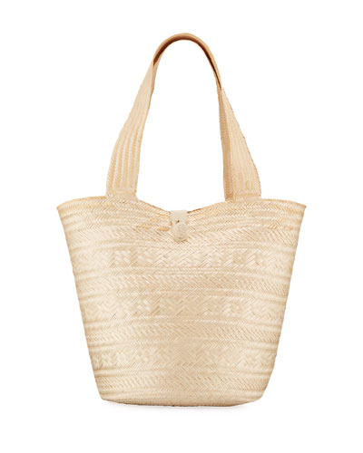 Ivy Woven Palm Tote Bag
