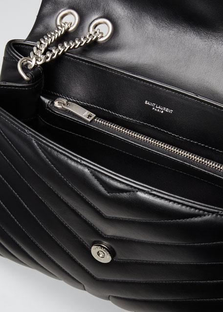 Loulou Medium YSL Matelasse Calfskin Flap-Top Shoulder Bag