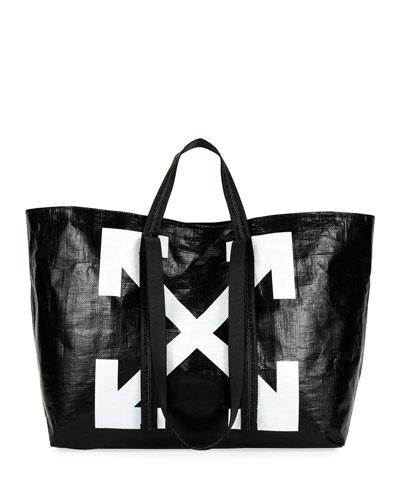 New Commercial Tote Bag  Black/White