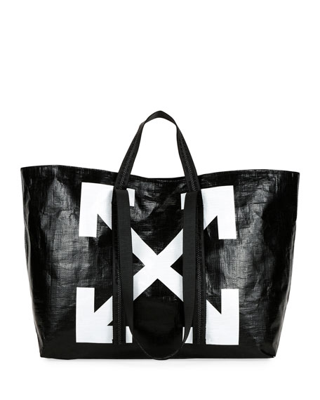 New Commercial Tote Bag, Black/White