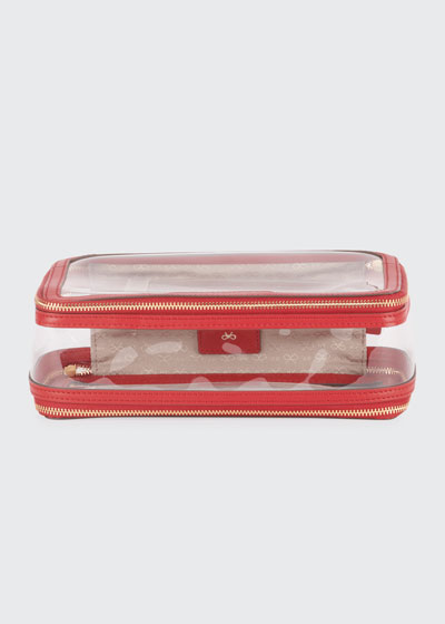 Inflight See-Through Cosmetics Bag  Red