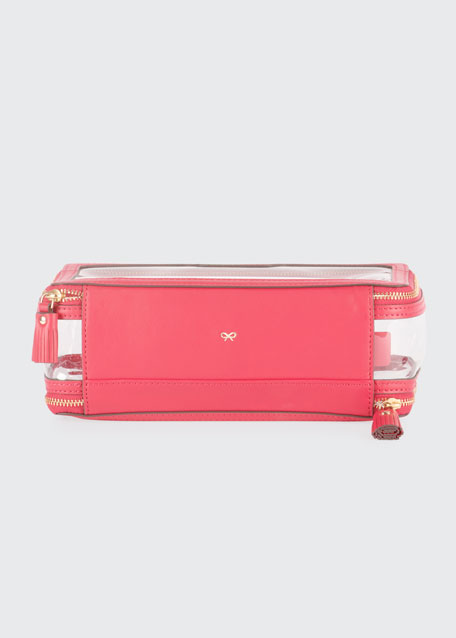 Inflight See-Through Cosmetics Bag, Pink