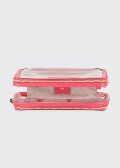 Inflight See-Through Cosmetics Bag  Pink