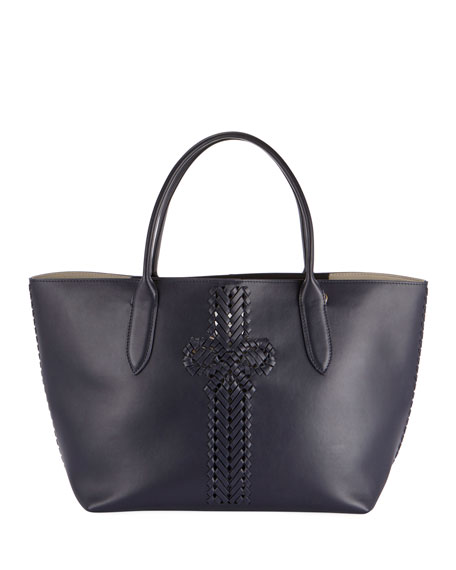 The Neeson Shopper Tote Bag, Dark Blue