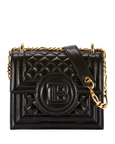 Quilted Leather Wallet On Chain Bag