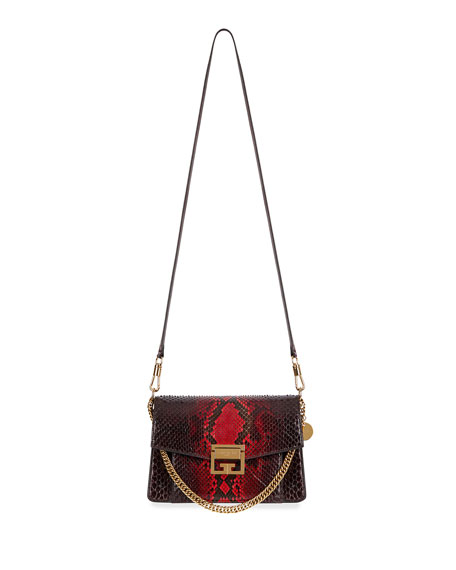 Image 1 of 1: GV3 Small Shiny Python Shoulder Bag
