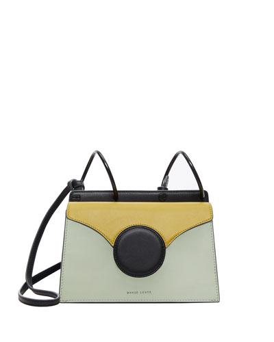 Mini Phoebe Colorblock Shoulder Bag  Green