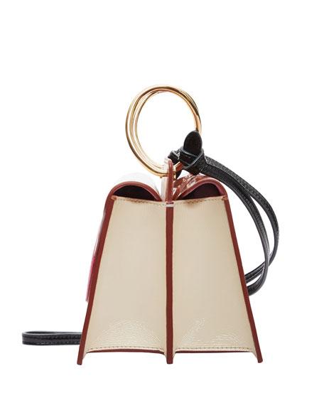 Mini Phoebe Colorblock Shoulder Bag, Brown/Pink
