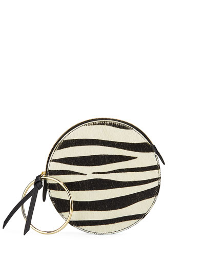 Zebra Plisse Wallet Bracelet Clutch Bag