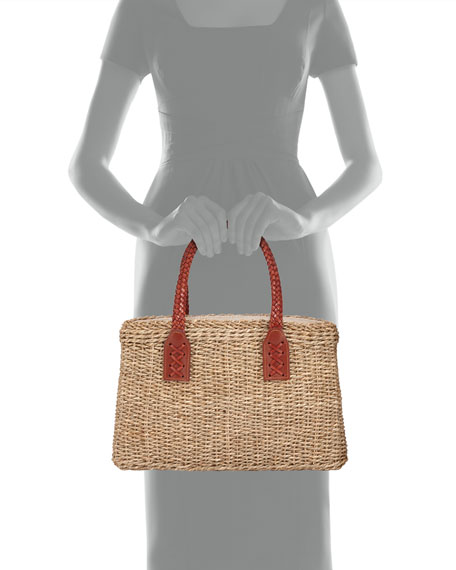 Woven Wicker Straw Tote Bag