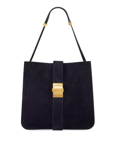 Marie Cachemere Suede Shoulder Bag