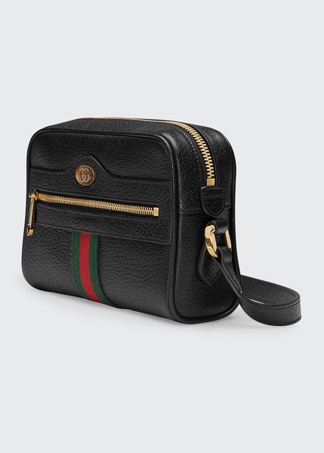 Ophidia Mini Leather Crossbody Bag