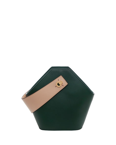 Johnny Mini Two-Tone Top Handle Bag