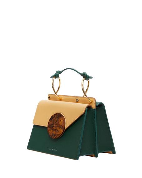 Phoebe Bis Leather Top-Handle Bag