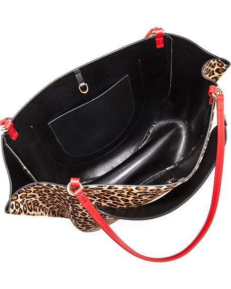 Mia Calf Leopard Tote Bag