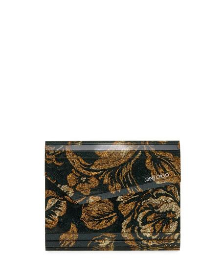 Brocade Acrylic Candy Clutch Bag