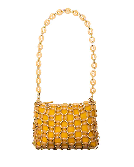 Image 1 of 1: Capria Chain Shoulder Bag, Yellow