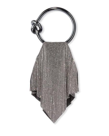 Casper Metal Mesh Clutch Bag, Silver
