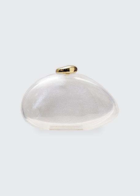 Ariel Glitter Transparent Clutch Bag