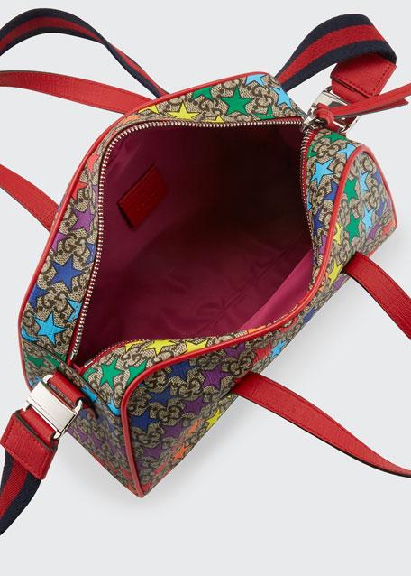 Kids' Rainbow-Star GG Supreme Shoulder Bag