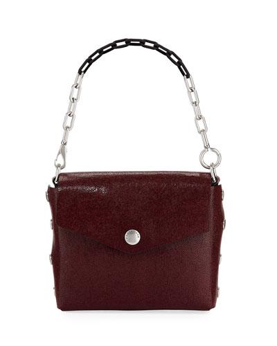 Crackle Leather Atlas Shoulder Bag