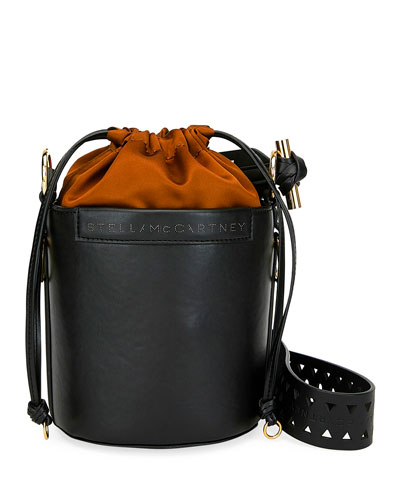 Small Faux-Leather Bucket Bag
