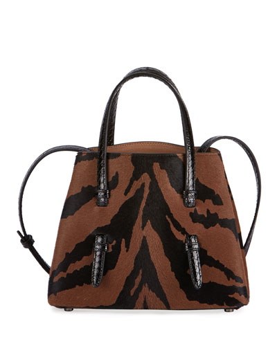 Mina Zebra Mini Calf Tote Bag