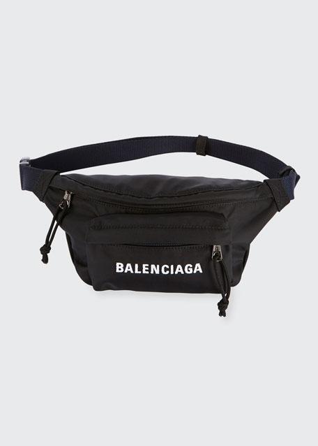 Wheel Small Nylon Logo Belt Bag