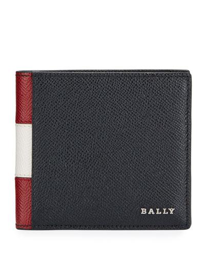 Men's Trasai Bi-Fold Leather Trainspotting Wallet